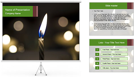 Candle Flame PowerPoint Template