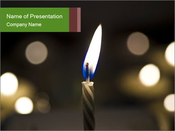 Candle Flame PowerPoint Template - Slide 1