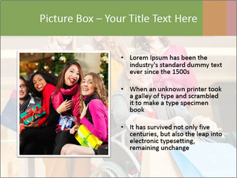 Friends In Shopping Mall PowerPoint Templates - Slide 13