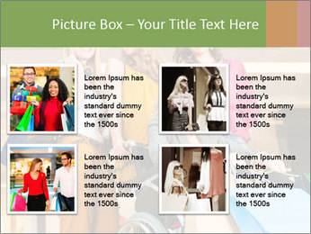 Friends In Shopping Mall PowerPoint Templates - Slide 14