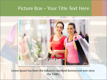 Friends In Shopping Mall PowerPoint Templates - Slide 16