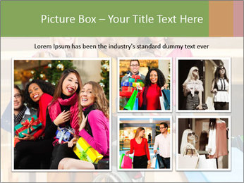 Friends In Shopping Mall PowerPoint Templates - Slide 19