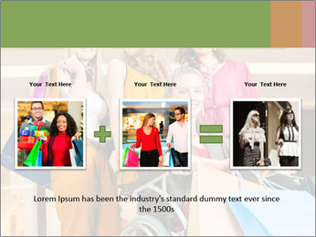 Friends In Shopping Mall PowerPoint Templates - Slide 22