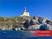 Lighthouse And Rock PowerPoint Templates