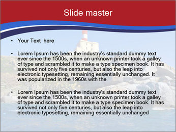 Lighthouse And Rock PowerPoint Templates - Slide 2