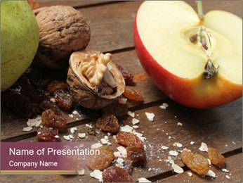 Apple And Nuts PowerPoint Templates - Slide 1