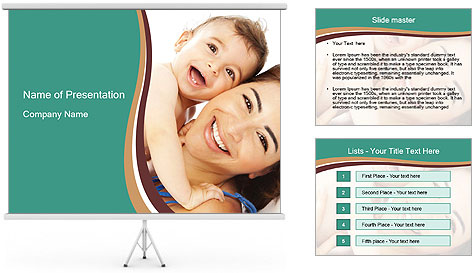 Woman And Newborn PowerPoint Template