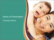 Woman And Newborn PowerPoint Templates