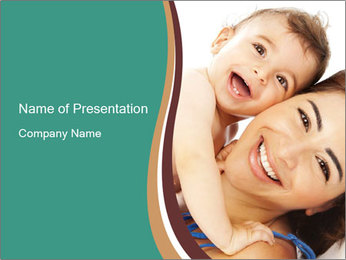 Woman And Newborn PowerPoint Template - Slide 1