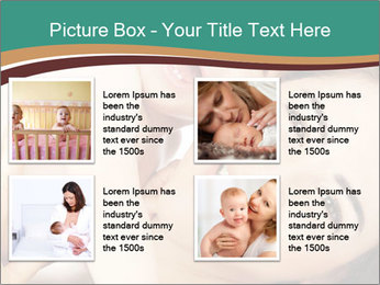 Woman And Newborn PowerPoint Template - Slide 14