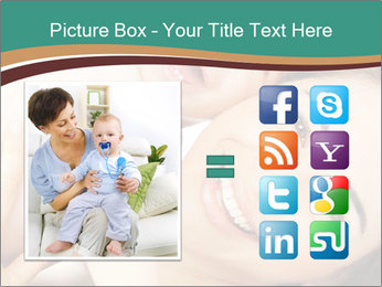 Woman And Newborn PowerPoint Template - Slide 21