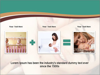 Woman And Newborn PowerPoint Template - Slide 22
