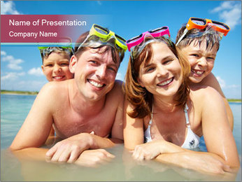 Family Sea Vacation PowerPoint Template
