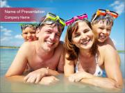 Family Sea Vacation PowerPoint Templates