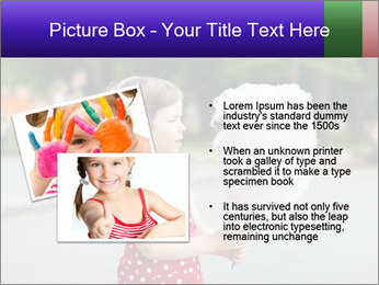Small Girl With Cotton Candy PowerPoint Template - Slide 20