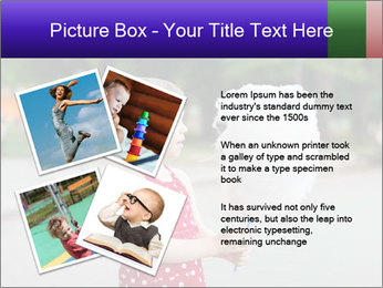 Small Girl With Cotton Candy PowerPoint Template - Slide 23