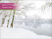 Winter Magic Lake PowerPoint Templates
