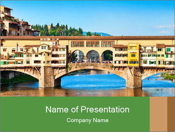 Bridge In Firenze PowerPoint Template - Slide 1