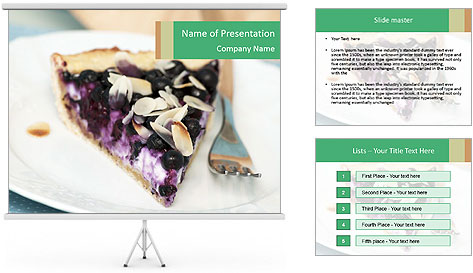 Berry Tart With Almond PowerPoint Template