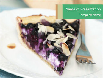 Berry Tart With Almond PowerPoint Template - Slide 1