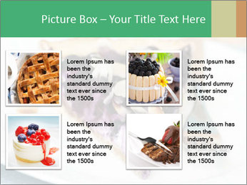 Berry Tart With Almond PowerPoint Template - Slide 14