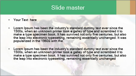 Berry Tart With Almond PowerPoint Template - Slide 2