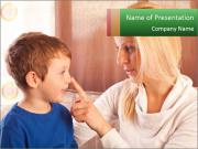 Mama And Son PowerPoint Template