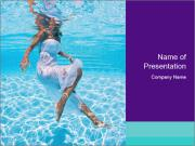 Bride Swimming In Pool PowerPoint Template