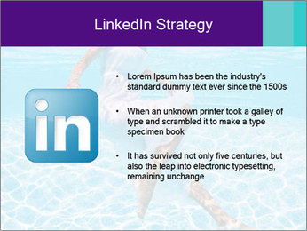 Bride Swimming In Pool PowerPoint Template - Slide 12