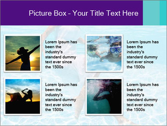 Bride Swimming In Pool PowerPoint Template - Slide 14