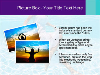 Bride Swimming In Pool PowerPoint Template - Slide 20