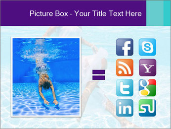 Bride Swimming In Pool PowerPoint Template - Slide 21