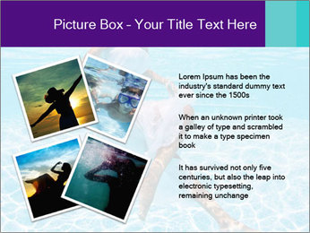 Bride Swimming In Pool PowerPoint Template - Slide 23
