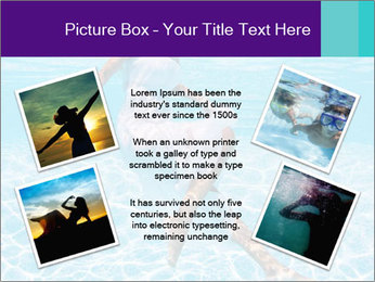 Bride Swimming In Pool PowerPoint Template - Slide 24