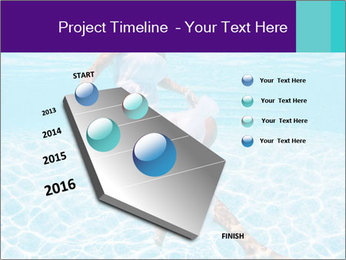 Bride Swimming In Pool PowerPoint Template - Slide 26