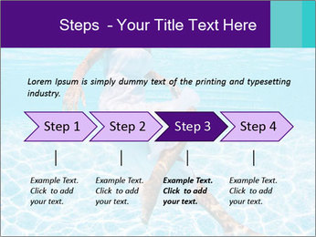 Bride Swimming In Pool PowerPoint Template - Slide 4