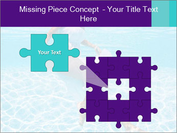 Bride Swimming In Pool PowerPoint Template - Slide 45