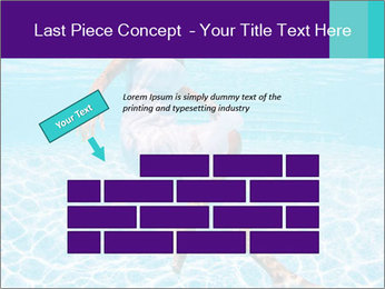 Bride Swimming In Pool PowerPoint Template - Slide 46