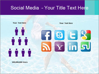 Bride Swimming In Pool PowerPoint Template - Slide 5