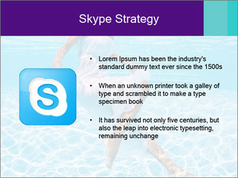 Bride Swimming In Pool PowerPoint Template - Slide 8