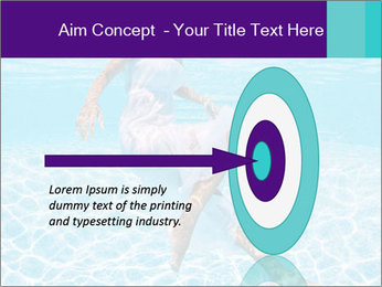 Bride Swimming In Pool PowerPoint Template - Slide 83