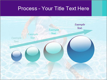 Bride Swimming In Pool PowerPoint Template - Slide 87