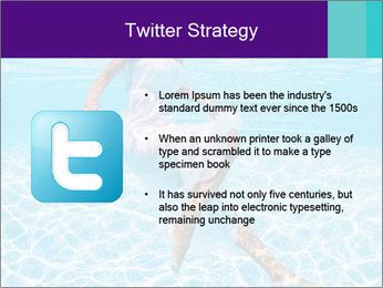 Bride Swimming In Pool PowerPoint Template - Slide 9