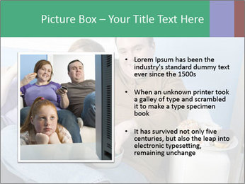 Fat Couple With Junk Food PowerPoint Template - Slide 13