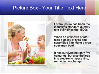 Happy Woman Cooking Lunch PowerPoint Template - Slide 13