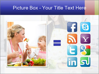 Happy Woman Cooking Lunch PowerPoint Template - Slide 21
