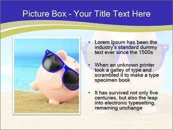 Pink Pig In Sunglasses PowerPoint Templates - Slide 13