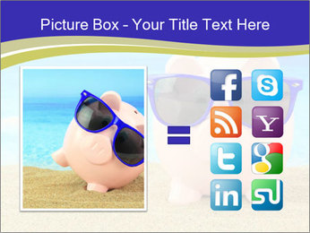 Pink Pig In Sunglasses PowerPoint Templates - Slide 21