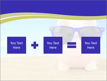 Pink Pig In Sunglasses PowerPoint Templates - Slide 95