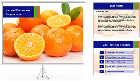 Sliced Oranges PowerPoint Template